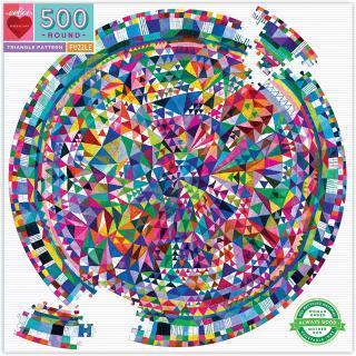 Triangle Pattern - 500 Piece Round Jigsaw Puzzle