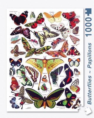 Butterflies Papillons - 1000 Piece Jigsaw Puzzle