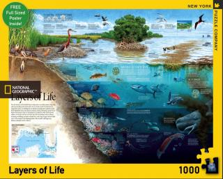Nat Geo Layers of Life - 1000 Piece Jigsaw Puzzle