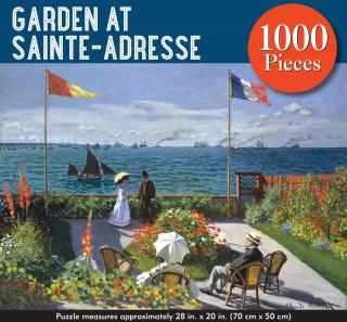 Garden at Sainte-Adrese (Monet) - 1000 Piece Jigsaw Puzzle